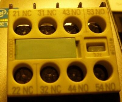Siemens  Auxiliary Contacts  3RH1911-1HA22  2x N/c & 2 N/o for 3RT contactors