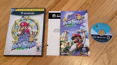 SUPER MARIO SUNSHINE Nintendo GameCube Wii Video Game CIB Complete lot  TESTED!