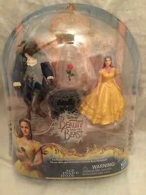 Disney Beauty and The Beast Enchanted Rose Scene ~ Belle, The Beast, Rose FIGURE