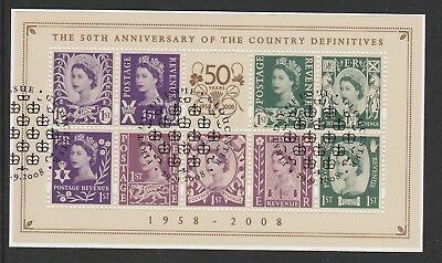 MSNII53 ANNIV. OF COUNTRY DEFINITIVES SHEET(FDI Gloucester cancel)--On piece