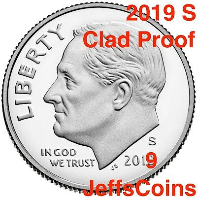 2019 S Mint Clad Proof Dime Roosevelt 10¢ Gem New From Set Gradable Early Issue