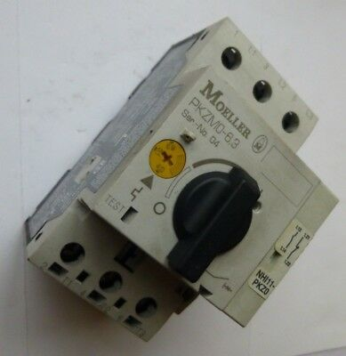 Moeller Thermal Motor Overload PKZMO-6.3  4-6.3A  + Aux Contacts 1x N/O & 1x N/C