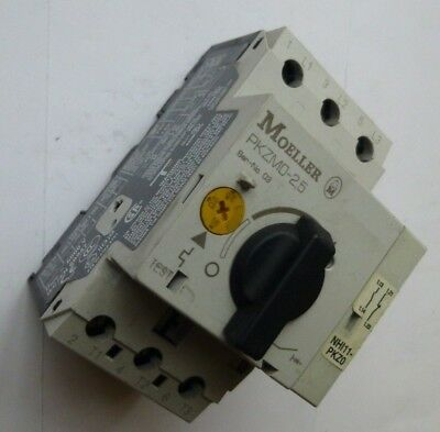 Moeller Thermal Motor Overload  PKZMO-2.5  1-2.5A + Aux Contacts 1x N/O & 1x N/C