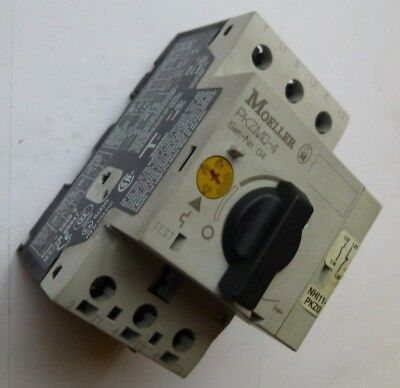 Moeller Thermal Motor Overload PKZMO-4  2.5-4A  + Aux Contacts 1x N/O & 1x N/C