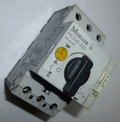 Moeller Thermal Motor Overload PKZMO-0.63 0.4-0.63A + Aux Contacts 1xN/O & 1xN/C