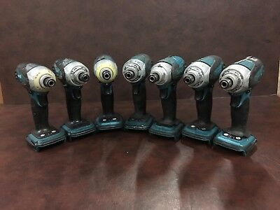 "Makita BTD144Z Cordless 18V Impact Driver, 1/4"" hex drive, Lot of 7 tools, Used"