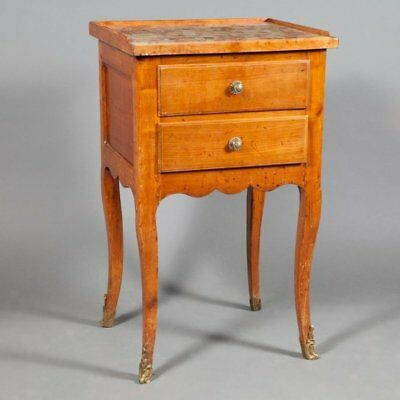 Antique Louis XV Fruitwood Stand with Marble top Ca. 1770