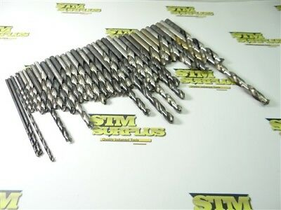 "Lot Of 30+ Assorted Hss Drills 9/64"" To 1/2"" Ptd Cleveland Morse Usa"