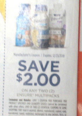 10 Ensure Multipack Coupons Save $2/2  Expires 12/23/18