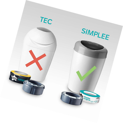 Tommee Tippee - Recharges pour Poubelle à Couches SIMPLEE Sangenic x3 (compatibl
