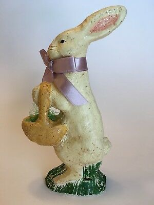 Teena Flanner Collection Chalkware Bunny Rabbit Hare Midwest Of Cannon Falls