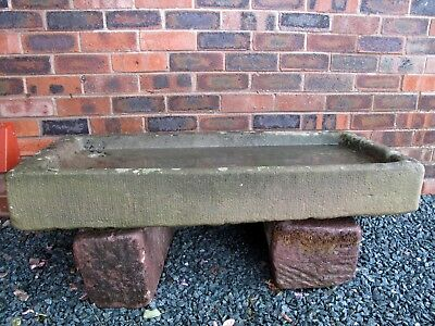 Large antique stone trough in good condition plus two stone stands included.