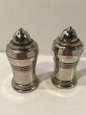 Vintage Silver plate Art Deco Salt And Pepper Shakers, Gorgeous