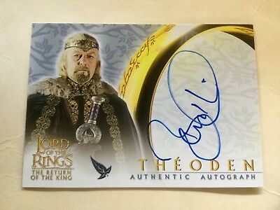 Topps Lord Of The Rings LOTR Bernard Hill As Theoden ROTK Autograph Card