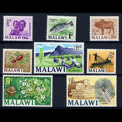 MALAWI 1964 -65 Short Set to 1s. SG 215-222. Mint Never Hinged. (AR163)