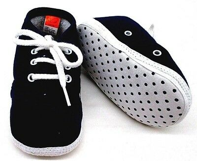 Newborn Shoes Boy Baby Non Slip Size 3 With Shoe Lace Navy 9-12 Months New Tags