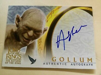 Topps Lord Of The Rings LOTR Andy Serkis As Gollum ROTK Autograph Card