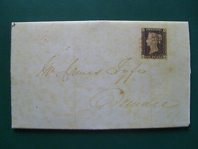 Facsimile first day cover, world´s first postage stamp, May 6, 1840 - Fleetwood