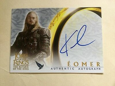 Topps Lord Of The Rings LOTR Karl Urban As Eomer ROTK Autograph Card