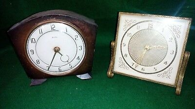 2 x Vintage BENTIMA Mechanical/wind up Clocks - Dressing table and Mantel styles