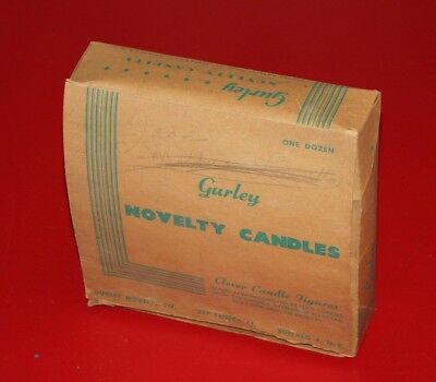 Vintage GURLEY NOVELTY CANDLES Empty Box Holds 6 candle Figures
