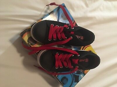 Black And Red Heelys - Size 11- Excellent Condition With Box