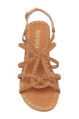 23142b1dad7c92 Report Womens 11 Gina Brown Strappy Shoes Sandals Open Toe Footwear New NIB