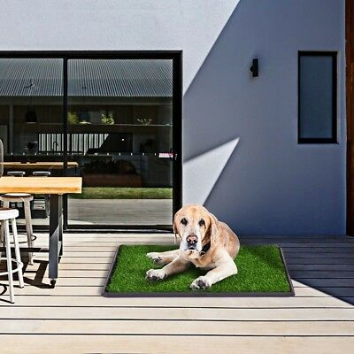 "30x20"" Pet Dog Puppy Potty Training Toilet Grass Pad Mat Carpet Turf Patch Green"