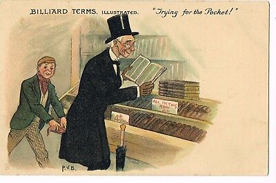 """ANTIQUE COMIC Postcard       """"TRYING FOR THE POCKET!"""""""