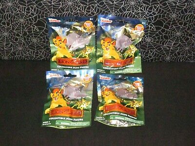 4x NIP The Lion Guard King Lot Collectible Blind Bags Series 3 Disney Junior