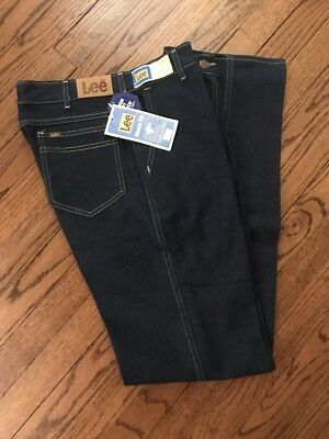 VTG LEE RIDERS STRETCH POLYESTER  STRAIGHT LEG JEANS 32 x 34 NOS NWT 70s 80s