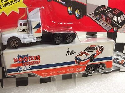 Loy Allen #19 HOOTERS RACING MINI Hauler / Transporter w/ NASCAR Stock Car