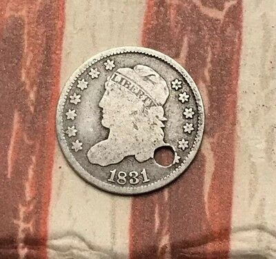 1831 5C Capped Bust Half Dime 90% Silver Vintage US Coin #LX73