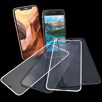 6D Panzerfolie iPhone 7 8 6 XR XS X 9H Curved Full Screen Schutzpanzer Glasfolie