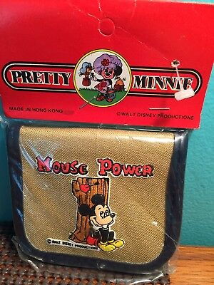 Vintage Walt Disney Products Hong Kong Minnie Mickey Mouse Coin Purse Orig. New