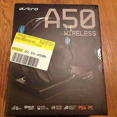 BRAND NEW Astro A50 Wireless Gaming Headset+Base Station for PC/PS4