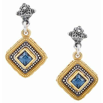 S216 ~ Sterling Silver & Swarovski Medieval Drop Earrings