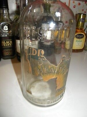 Old CLEVELAND DISTILLERY Water Bottle.. HALF GALLON.. Vintage Label.. DISTILLATA