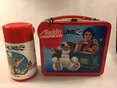 Gremlins metal lunch box with thermos New Old Stock 1984