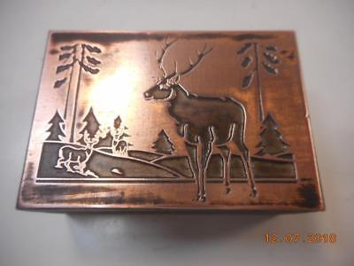 Printing Letterpress Printer Block, Decorative Winter Deer Scene, Printer Cut