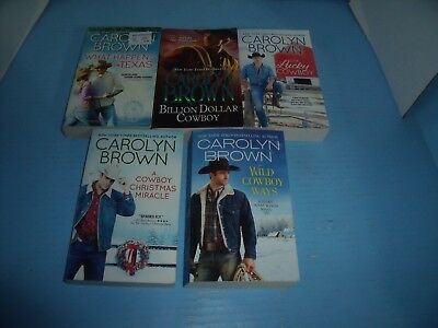 Lot Of 5 Carolyn Brown*wild Cowboy Ways*one Lucky Cowboy*what Happens In Texas
