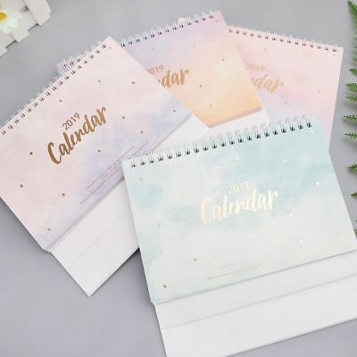 Dreamy Colorful Sky Desktop Standing Coil Paper 2019 Calendar Memo Daily Yearly