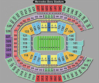 Chick-Fil-A Peach Bowl #10 Florida vs #7 Michigan Section 328/Row2. With FanFest