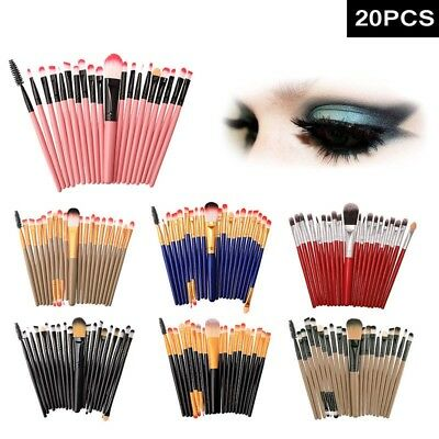 20 pcs Pro Beauty Makeup Brush Set Eyebrow Foundation Eyeshadow Soft Brush Kit