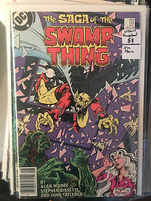 SWAMP THING #27 VF/NM 1st Print ALAN MOORE Newstand Edition