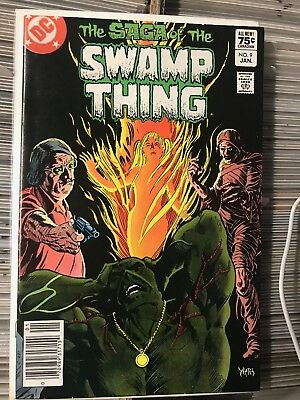SAGA OF THE SWAMP THING #9 VF/NM 1st Print CANADIAN PRICE VARIANT Newsstand