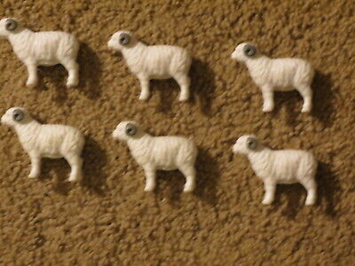 VGC Lot of farm toy miniatures for display or play - 6 sheep