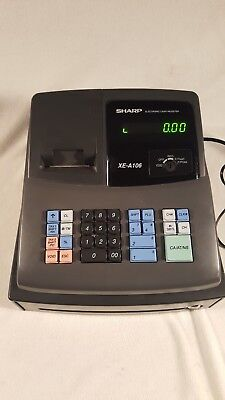 Sharp XE-A106 Electronic Cash Register WORKING! *MISSING BOTH KEYS SOLD AS-IS*