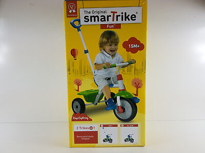 The Original Smart Trike Green with Handle and Basket