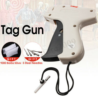 CLOTHING PRICE LABEL TAGGING TAG GUN WITH 1000 BARBS pins FASTENERS +5 NEEDLES